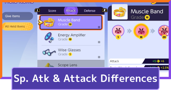 Special Attack & Attack Differences
