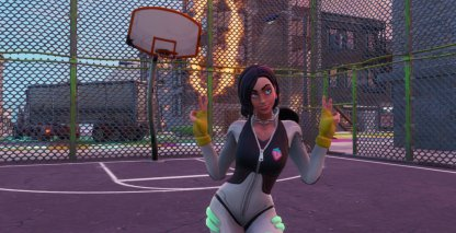 Dance or Emote at Basketball Court Location - Downtown Drop