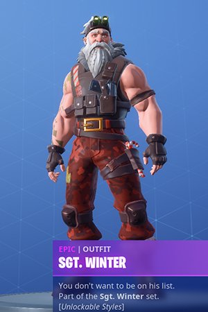 Skin Outfit SGT. WINTER