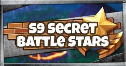 Season 9 Secret Battle Star & Fortbyte Locations